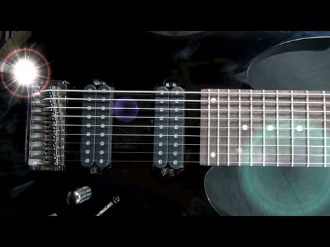 Ibanez RG-9 BK 9 String Demo