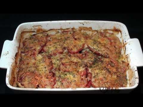 Lasaña de berenjenas y tomates (sin pasta)