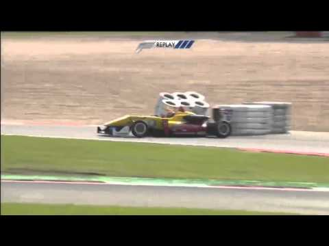 Gelael Crash @ 2014 Formula 3 Nurburgring Race 2