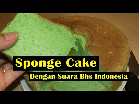 Sponge Cake  atau Bolu Pandan -   Dengan Suara Bhs Indonesia