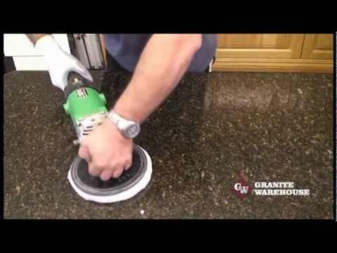How to Re Polish a Granite or Engineered stone top - MB Stoncare MB 20.