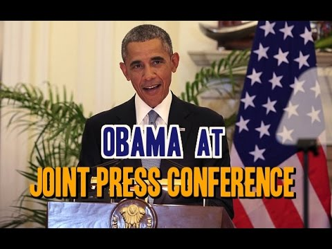 US President Obama speaks at Joint Press Conference in the Hyderabad House | Delhi