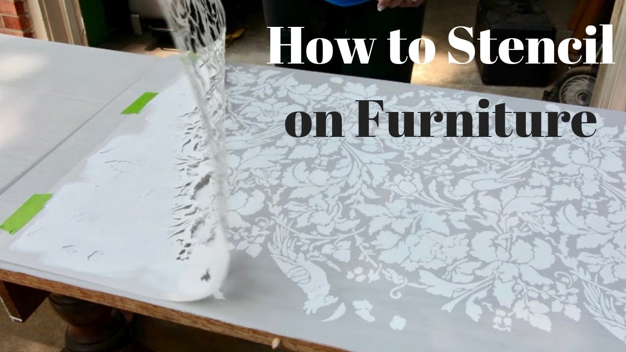 How To Stencil On Furniture Diy Tutorial Thrift Diving