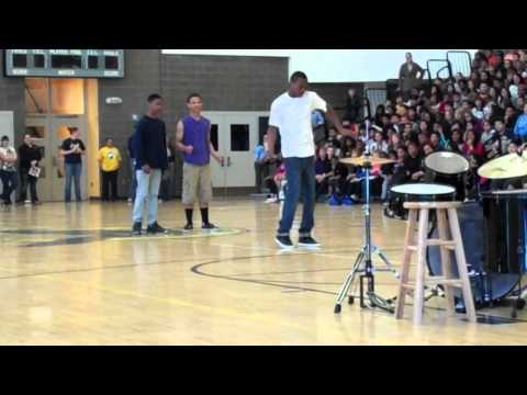 Louder dubstep dance. school talent show