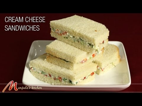 Cream Cheese Sandwiches   Cucumber Recipe by Manjula