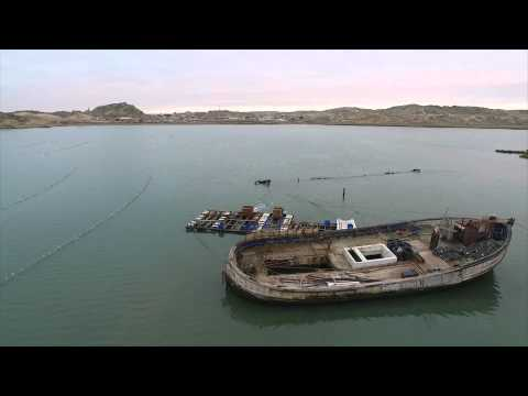Namibia, Luderitz & Kolmanskop Ghost Town Aerial Video