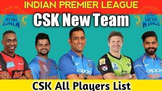 CSK New Team 2019 | CSK 2019 new players | CSK Full Squad 2019 | IPL 2019