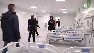 Coronavirus, l'ospedale della Fiera di Milano benedetto da Delpini.