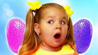 Diana Learn Colors with Hatchimals Surprise Eggs, Fun learning colors for kids