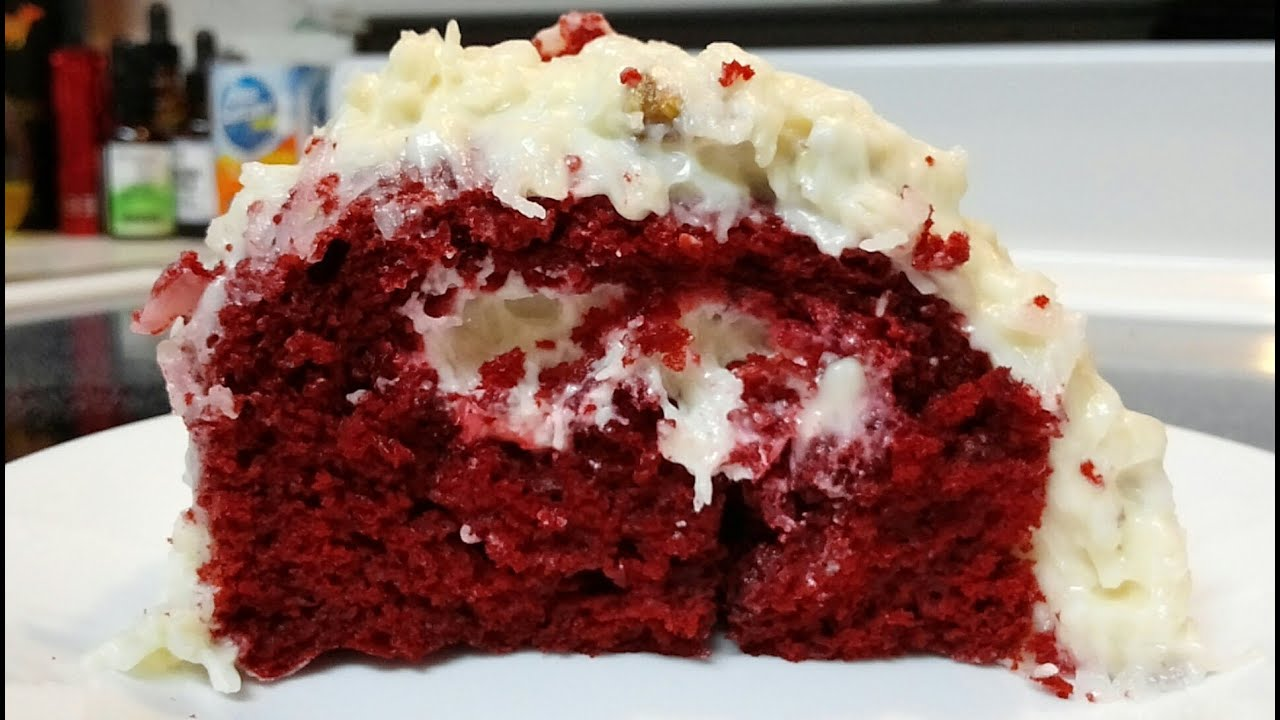 ... ™ Red Velvet Cake with Coconut Pecan Cream Cheese Icing - YouTube