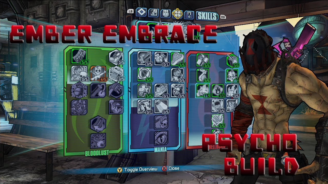 Borderlands 2 Level 61 Psycho Build- Ember Embrace - YouTube Borderlands 2 Psycho Build
