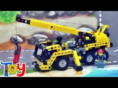 decool 레고 테크닉 미니 모바일 크레인 8067 중국 짝퉁 조립 리뷰 Lego Technic Mini Mobile Crane