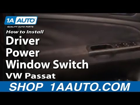 How to install replace driver power window switch vw for 2000 vw passat power window regulator