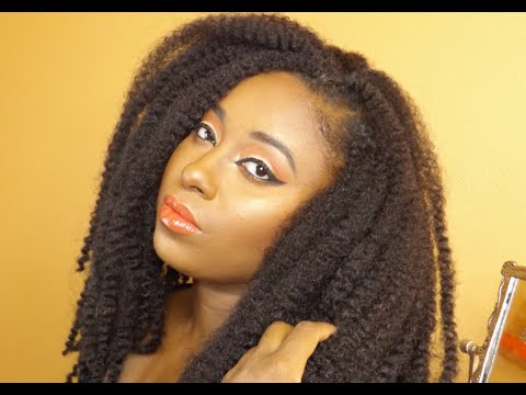 Natural Hair | How To Install Crochet Braids with Marley Hair || Vicariously Me