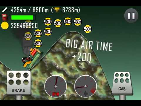hill climb racing alien planet 6836 meters with kiddie. Black Bedroom Furniture Sets. Home Design Ideas
