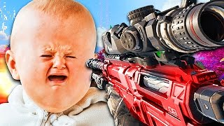 MOST ANNOYING KID EVER CRIES IN CRAZY BO3 1V1! (Black Ops 3 Trolling)