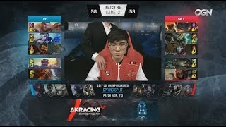 [MEGA EPIC] KT (Smeb Gragas) VS SKT (Huni Rumble) Game 3 Highlights - 2017 LCK Spring W6D3