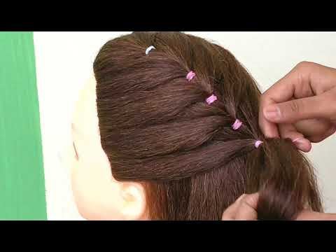 Simple Ponytail Hairstyle For Girls || Front Ponytail Hairstyle || New Ponytail