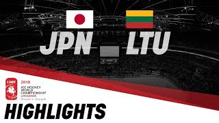 Japan-Lithuania | Highlights | 2018 IIHF Ice Hockey World Championship Division I Group B