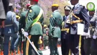 President Mugabe's grand  arrival at the Fourth Session of the Eighth Parliament
