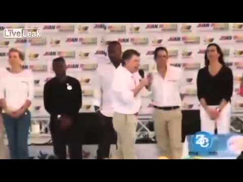 Did Colombian President Wet His Pants During Campaign Speech ?