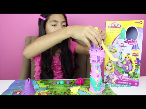 Tuesday Play-Doh  Rapunzel's Garden Tower With Sparkle Compound PlayDoh|B2cutecupcakes