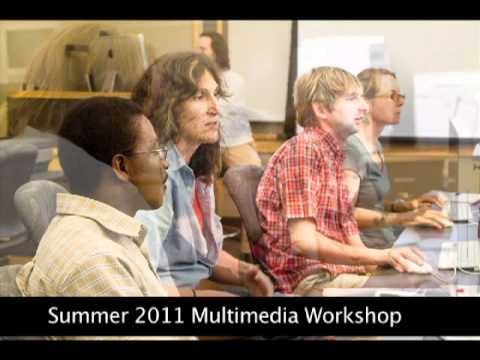 Screenshot of Multimedia Workshop- Summer 2011 Youtube video