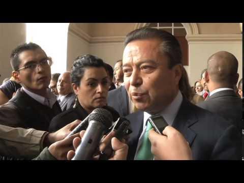 Dr. César Camacho, Entrevista tras el reconocimiento que le hace la UAEM, Toluca, 30-09-14