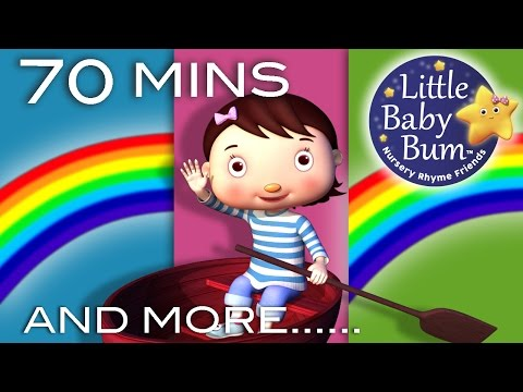 Row Row Row Your Boat | Plus Lots More Nursery Rhymes | 70 Minutes Compilation!