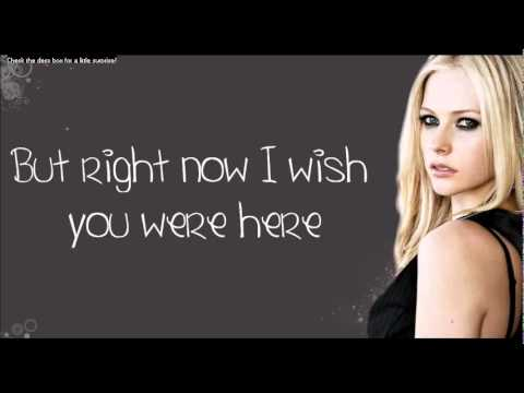 Avril Lavigne - Wish You Were Here (lyrics On Screen) New Full Song [avril Lavigne Wish You Were video