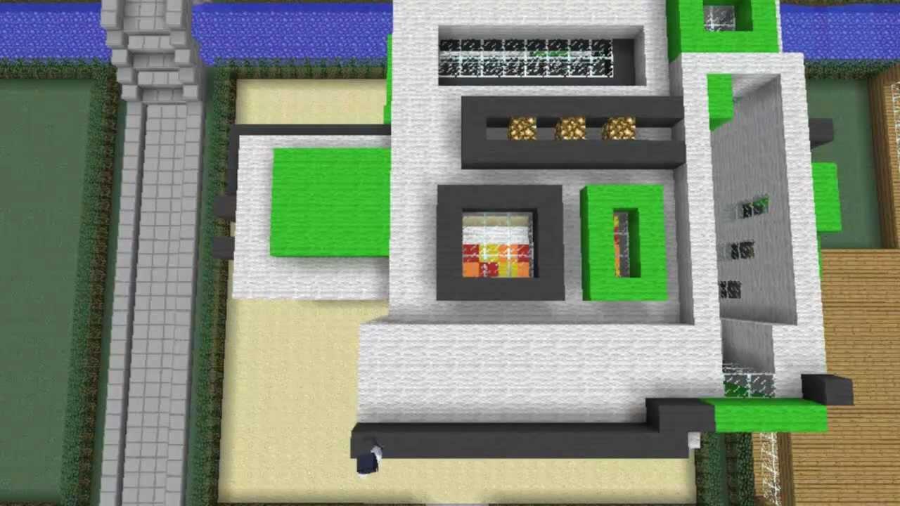 Minecraft bauanleitung modernhouse youtube for Modernes lego haus