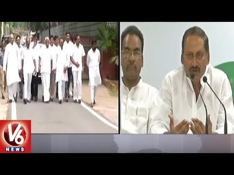 Kiran Kumar Reddy Speaks To Media After Joining Congress Party | V6 News
