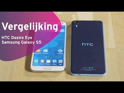 HTC Desire Eye vs Samsung Galaxy S5 review (Dutch)