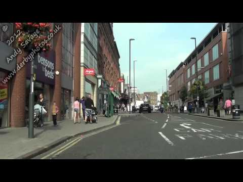 Westfield Derby, The Lanes, The Spot. Derby streets by car in HD around Derby City Centre Aug 2012