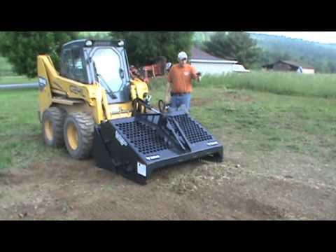 bobcat 5b landscape rake rock hound harley rake for skid steer loader