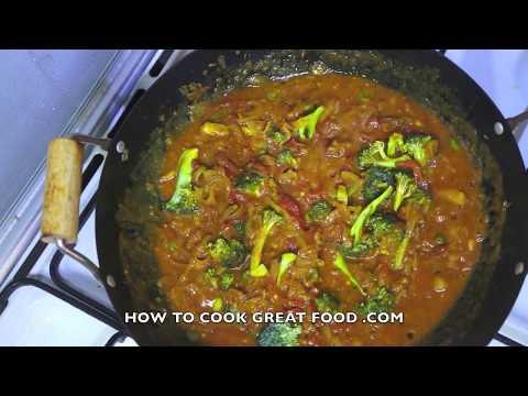 Broccoli Curry Recipe - Indian Masala Vegetarian Healthy cooking