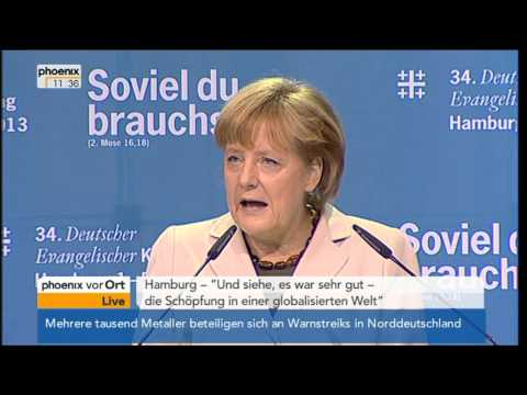 Rede von Angela Merkel (CDU) auf dem Evangelischen Kirchentag - VOR ORT vom 03.05.2013