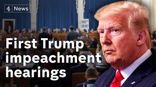 Trump impeachment inquiry begins first public hearings