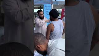 Shahaadah in Baltimore! May Allah Keep Our New Brother Firm | Hasan Somali CCDawah USA