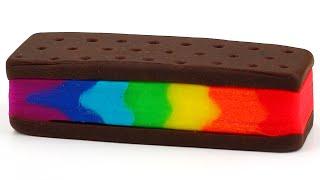 Play Doh Rainbow Ice Cream Sandwich Easy