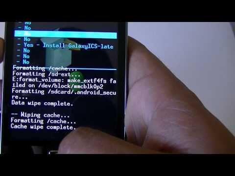 Install Real Android ICS 4.0.3 for Galaxy Ace : GalaxyICS Custom ROM