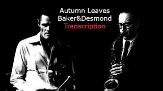 Autumn Leaves Baker Desmond 39 S Solos Transcribed By Carles Margarit