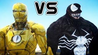 IRON MAN (MARK XXI MIDAS) VS VENOM - EPIC BATTLE