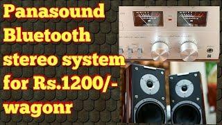 Panasound bluetooth stereo for wagonr!