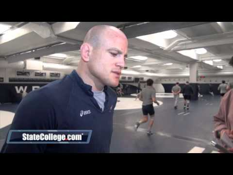 Penn State Wrestling Coach Cael Sanderson and Quentin Wright Speak with the Media Image 1