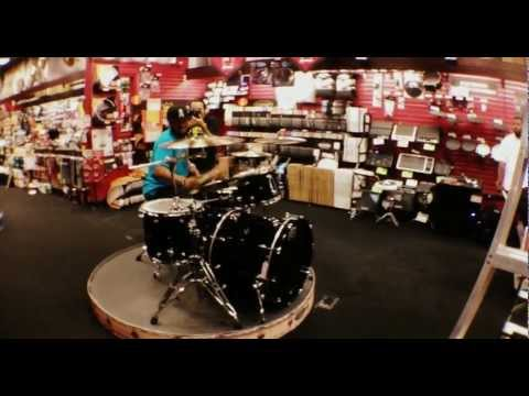 Tony Royster Jr. rocking out at Guitar Center