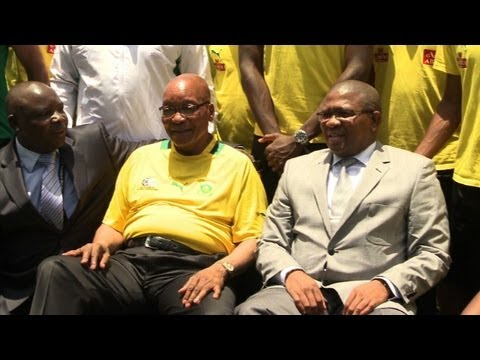 Zuma meets S. African team ahead of Cup of Nations