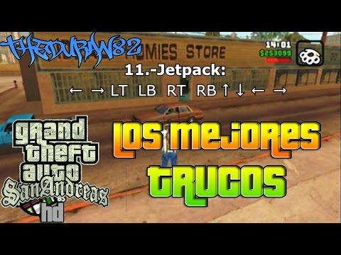 Trucos de GTA San Andreas HD en Xbox 360   Vida Infinita. Armas. Jetpack & Dinero   TheDuran82.