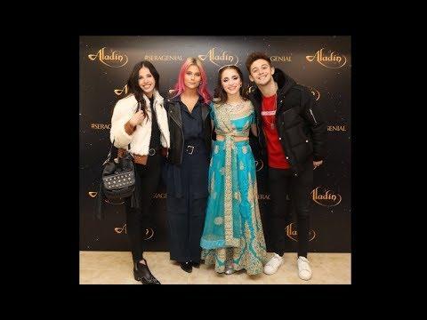 Carolina Kopelioff, Valentina Zenere, Ruggero Pasquarelli y Cande Molfese en Aladin el show
