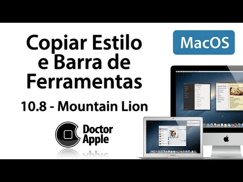 Aula Mac OSX Mountain Lion 10.8 - Copiar e Colar Estilo, Barra de Ferramentas